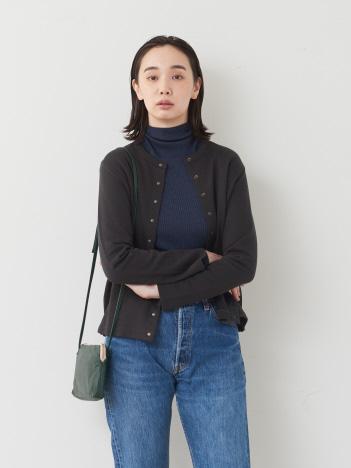 collex - シルケット裏毛カーディガン