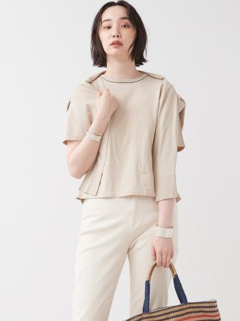 collex - ハイツイストコットンニットTシャツ