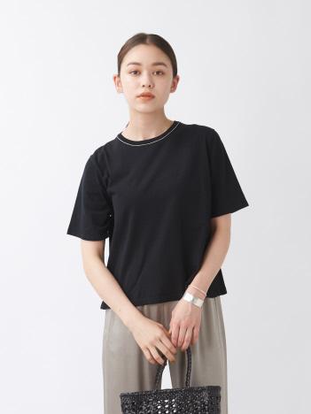 ハイツイストコットンニットTシャツ