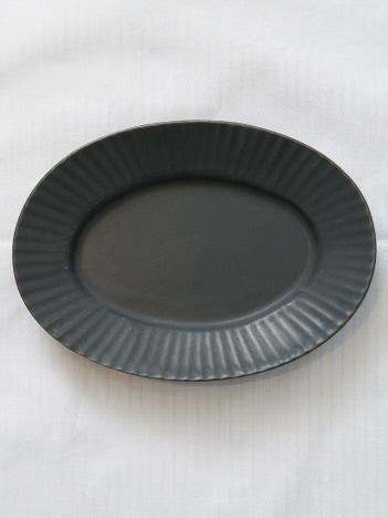 collex - 《一部別注カラー》SAKUZAN 作山窯 StripeオーバルプレートS