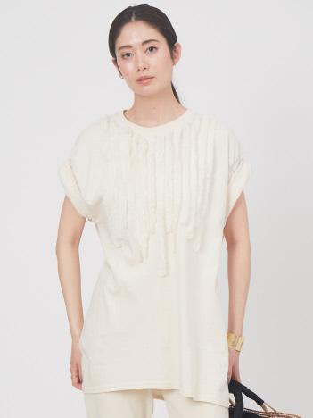 【別注】Dahlia design T-shirt リメイクフリルTシャツ