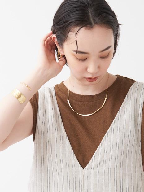 【Ljud/ユード】ツチメカーブラインチョーカーネックレス