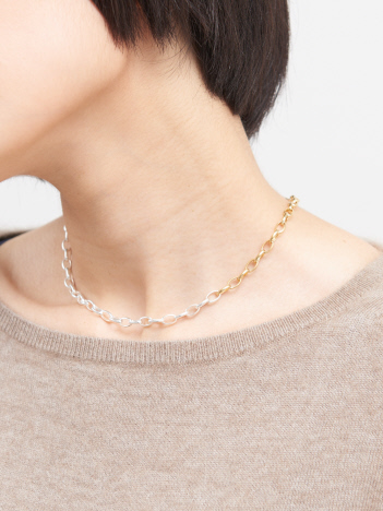 collex - 【Lemme./レム】oval chain necklace