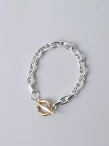 collex - 【Lemme./レム】thin chain bracelet シルバー×ゴールド