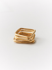 collex - 【SOKO/ソコ】LINI STACKING RINGS スクエアリング