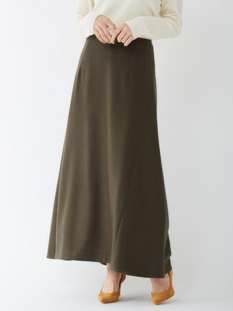 【COCUCA】フレアロングスカート