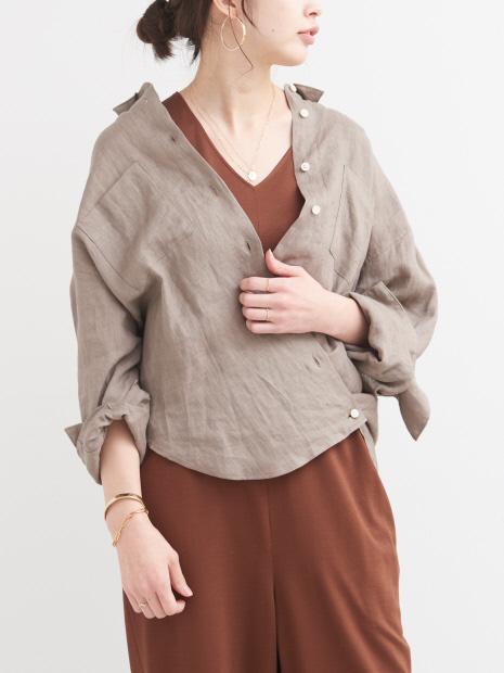 【COCUCA】2WAYカシュクールシャツ