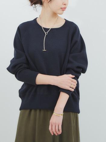 【COCUCA】スウェットライクニットプルオーバー