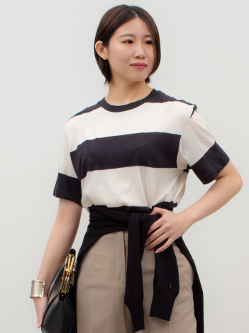 THE STORE by C' - 【ROLLA'S】Tomboy Big Stripe Tシャツ