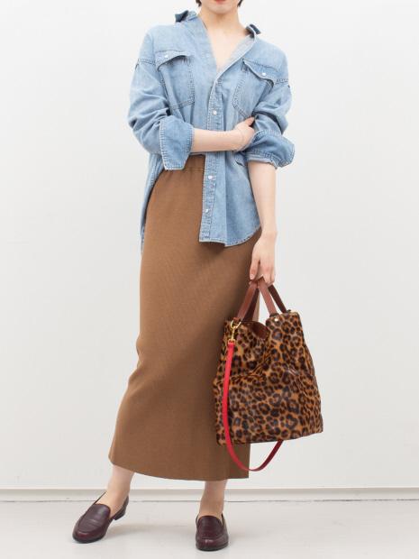 【BAGS IN PROGRESS】レオパードトートバッグ