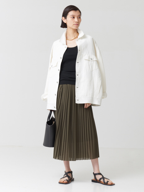 【COCUCA】プリーツジャージスカート