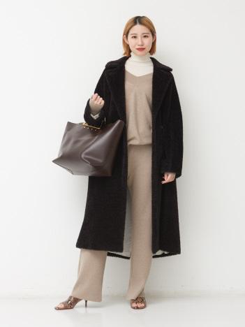【MARELLA】ベルテッドシャギーコート