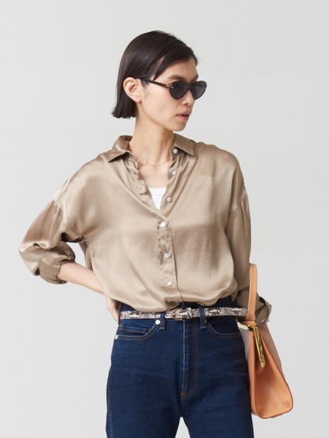 【Finamore】シルクシャツ GRACE