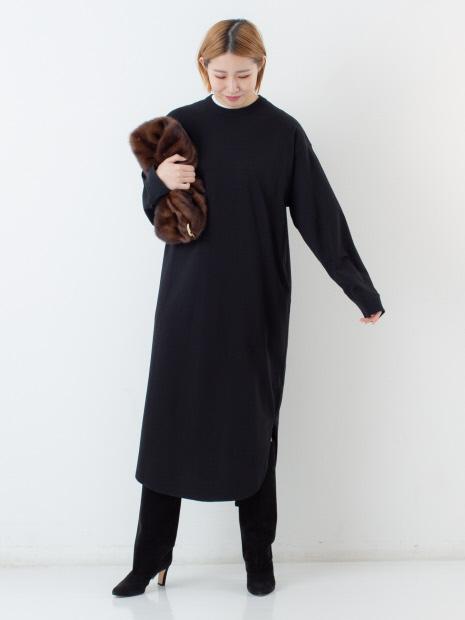 【ATON】ラウンドヘムドレス