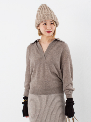 THE STORE by C' - 【KHAITE】JO PULLOVER ニットポロ