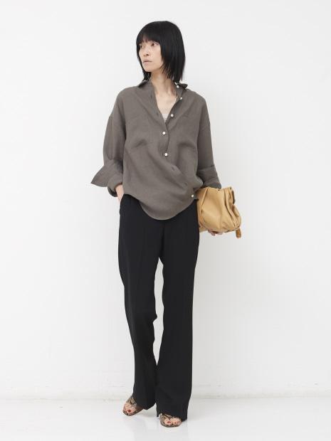 【COCUCA】リネンカシュクールシャツ【予約】