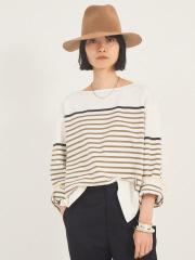 【COCUCA】バスクボーダーTシャツ