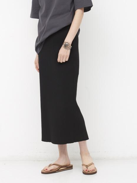 【COCUCA】リブニットスカート【予約】