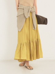 【COCUCA】シルク羽二重スカート