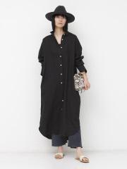 【COCUCA】リネンシャツドレス【予約】