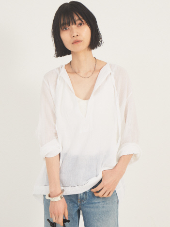THE STORE by C' - 【SUNDAY atelier】TIE NECK BLOUSE