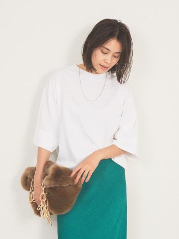 【LOEFF】スビンコットン5分袖Tシャツ