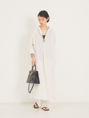 THE STORE by C' - 【P LE MOULT】stripe/LongNightshirt