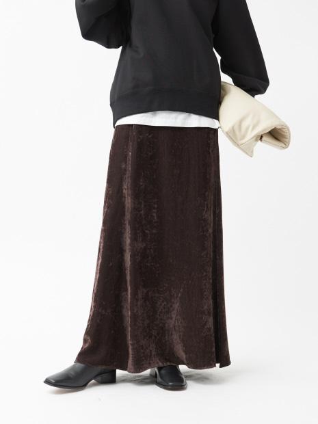 【COCUCA】ベルベットマキシスカート