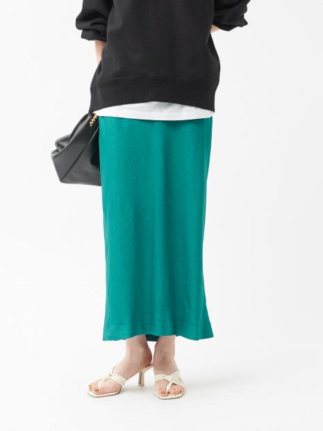 【COCUCA】サテンタイトスカート