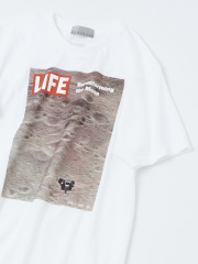 ABAHOUSE - 【展開店舗限定】【LIFE】moon プリントTシャツ