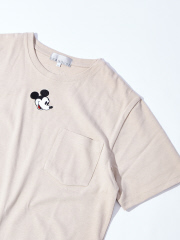 ABAHOUSE - 【展開店舗限定】MICKEY ワンポイント 刺繍 ポケットTシャツ