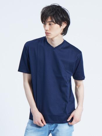 【展開店舗限定】シルケット天竺Vネック半袖Tシャツ