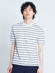ABAHOUSE - 【展開店舗限定】シルケット天竺ボーダー半袖Tシャツ