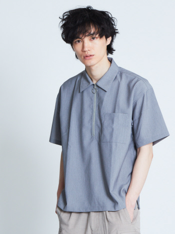 ABAHOUSE - 【展開店舗限定】TRストレッチハーフジップシャツ