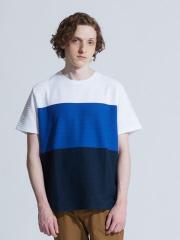 ABAHOUSE - 【展開店舗限定】3段配色JQDボーダー半袖Tシャツ【予約】