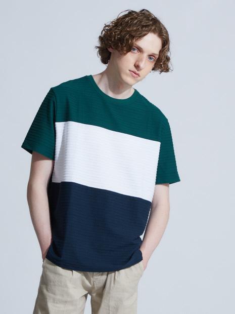 【展開店舗限定】3段配色JQDボーダー半袖Tシャツ
