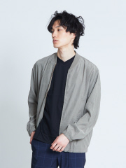 ABAHOUSE - 【展開店舗限定】ピーチサテンブルゾン