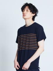 ABAHOUSE - ヨークカノコボーダー切替半袖Tシャツ