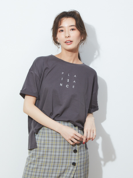 ecru ビッグサイズロゴTシャツ