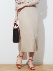 abahouse mavie - ストレッチワイドリブニットスカート