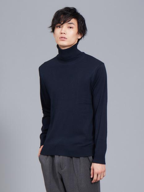 【展開店舗限定】gicipi コットン ソフト タートルネック Tシャツ