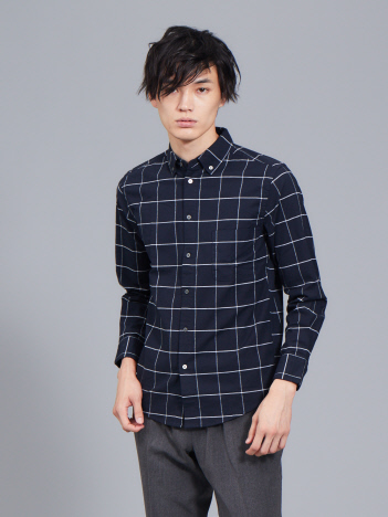 ABAHOUSE - 【展開店舗限定】ストレッチオックスボタンダウンシャツ【予約】