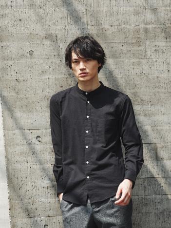 【展開店舗限定】ストレッチオックスバンドカラーシャツ