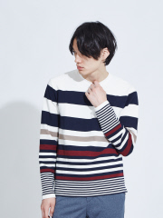 ABAHOUSE - 【展開店舗限定】リップルボーダー ロングTシャツ