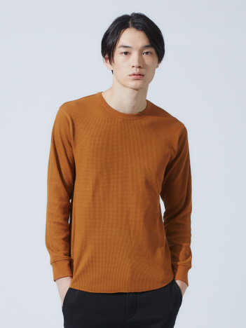 ABAHOUSE GRAY - 【展開店舗限定】ワッフルラウンドロングTシャツ