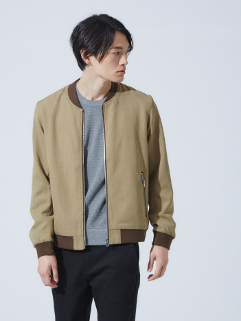 OUTLET (MEN'S) - 【展開店舗限定】ツイル リブ ブルゾン