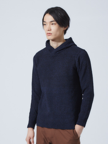 OUTLET (MEN'S) - 【展開店舗限定】モールヤーン ミックス プルオーバー パーカー