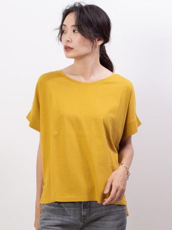 abahouse mavie - ecru【汗染み防止】クルーネックワイドTシャツ