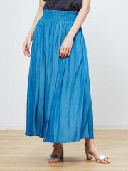 abahouse mavie - ecru ウエストシャーリングローンマキシスカート