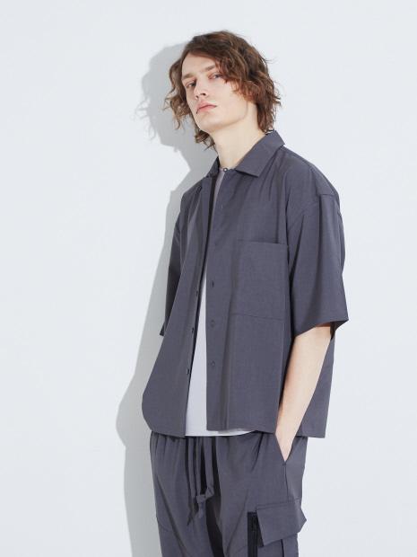 【MYSELF ABAHOUSE】6分袖ビックシャツ